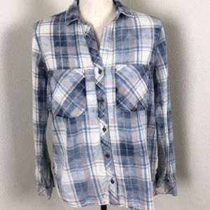 Cloth and Stone Long Sleeve Plaid Shirt Size S